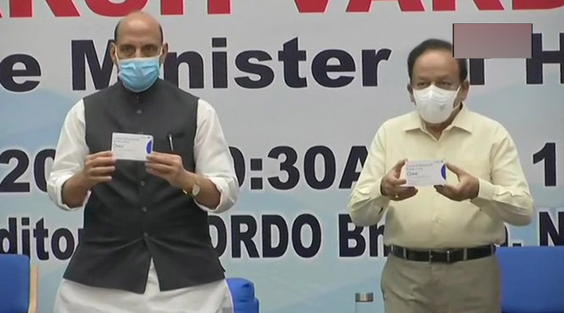 Rajnath Singh and Dr Harsh Vardhan released first batch of Anti-COVID drug 2DG developed by DRDO | Sangbad Pratidin