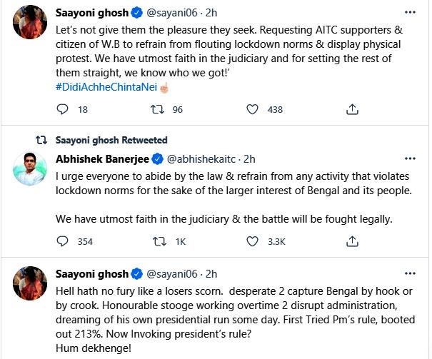 Saayoni Ghosh sharply tweeted after CBI arrests heavyweights in Bengal