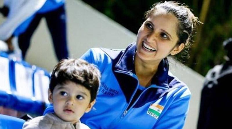 Sania Mirza's son helping her with tennis practice | Sangbad Pratidin