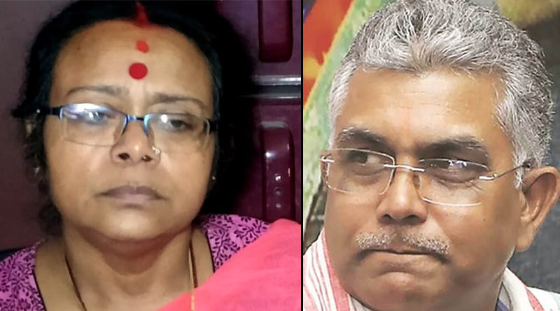 Dilip Ghosh taunts Sonali Guha, after she tweets and expresses to rejoin TMC | Sangbad Pratidin