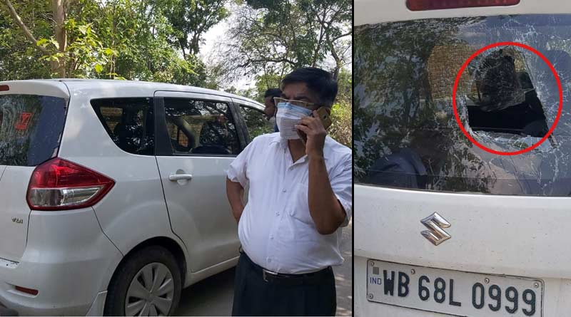 BJP MP Subhas Sarkar attacked, his car stormed with stones, TMC accussed