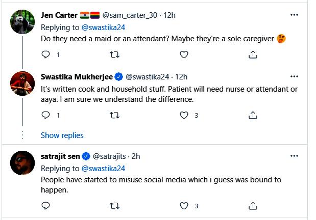 Swastika Mukherjee gets bizarre request on twitter