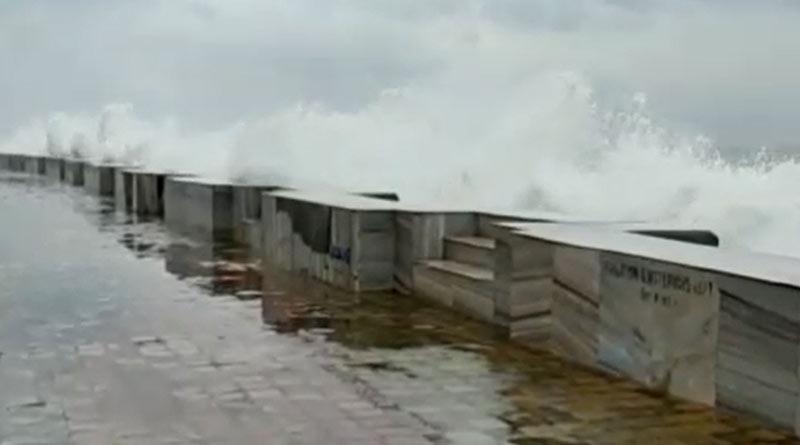 Cyclone Yaas: High tide at Digha, rain and strong wind | Sangbad Pratidin