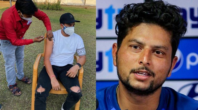 Kanpur administration orders probe after Kuldeep Yadav takes corona vaccine | Sangbad Pratidin