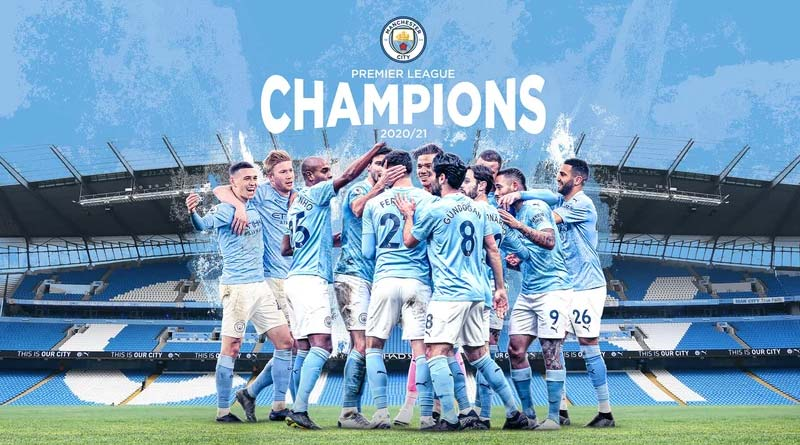 Manchester City wins Premier League 2020-21 trophy after Man United lose to Leicester City | Sangbad Pratidin
