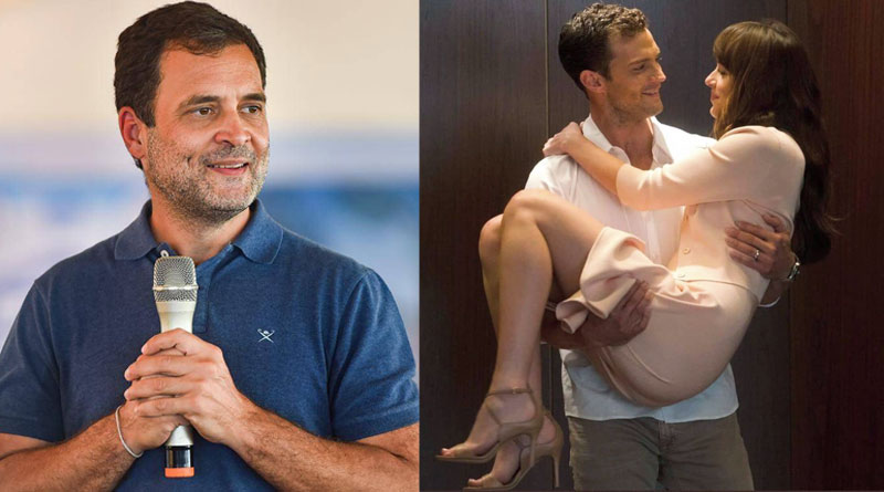 People thought it's Rahul Gandhi's Girlfriend after discovering this Still From 'Fifty Shades Of Grey' | Sangbad Pratidin
