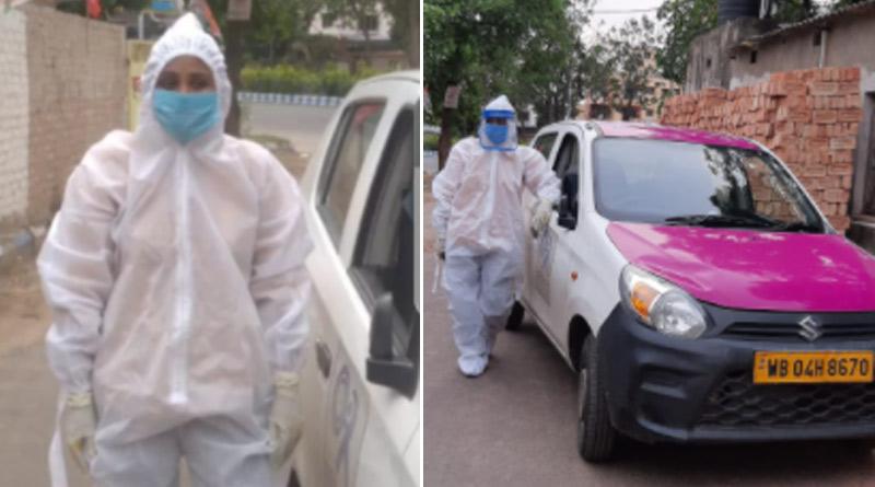Woman turns app cab into ambulance for Covid patients in Kolkata | Sangbad Pratidin