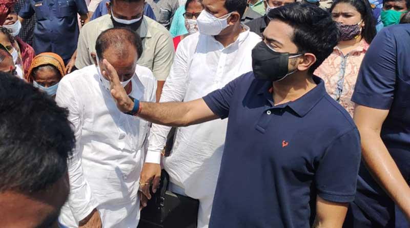 Cylcone Yass: TMC leader Abhishek Banerjee visits Medinipur | Sangbad Pratidin