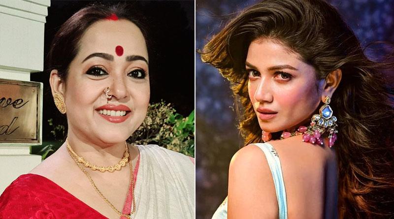 Aparajita Adhya and Sauraseni Maitra in Mainak Bhaumik's new Family Drama Ekannoborti | Sangbad Pratidin