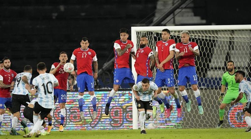 Copa America 2021: Leo Messi's free kick went in vain as Argentina were held for a draw by Chile | Sangbad Pratidin
