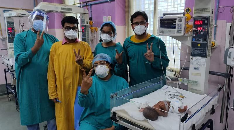 Newborn beats corona at National Medical College in kolkata