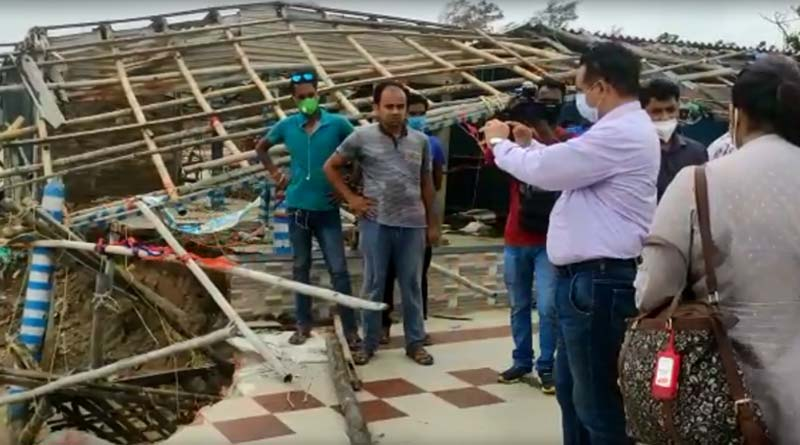 Central team visits Purba Medinipor to collect dada over cyclone Yaas effects । Sangbad Pratidin