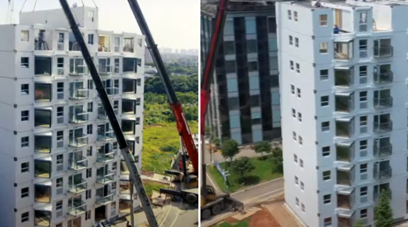 Chinese developer builds 10-storey building in Changsha in just over 28 hours | Sangbad Pratidin
