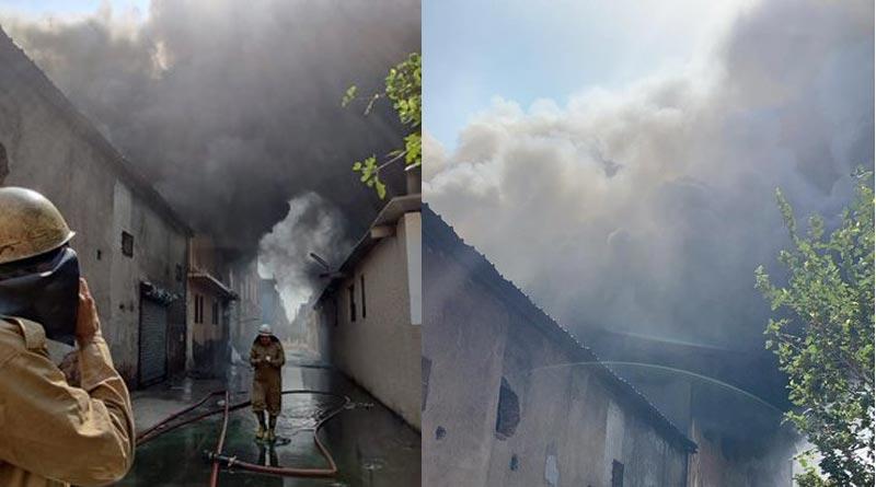 6 missing after massive fire at shoe factory In West Delhi । Sangbad Pratidin