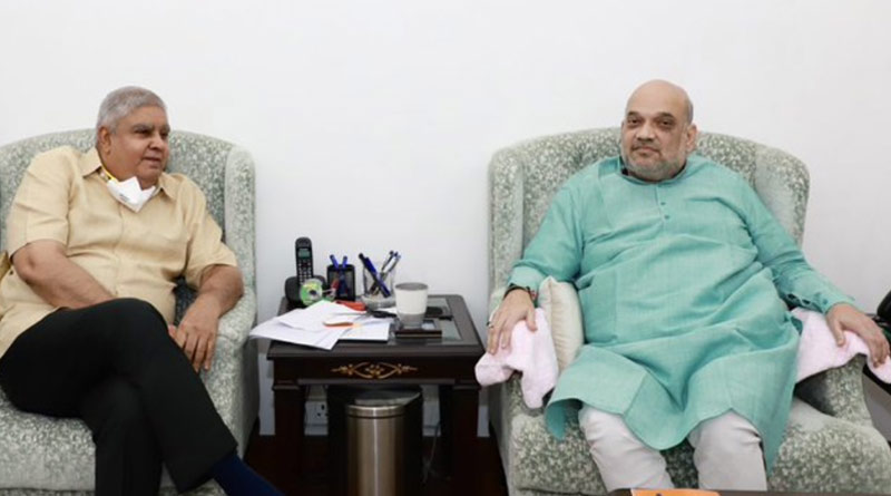 WB Governor Jagdeep Dhankhar will call on Amit Shah today at his residence in Delhi | Sangbad Pratidin