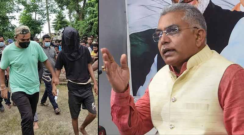 BJP state president Dilip Ghosh slams Bengal government over Maldah murder case ।Sangbad Pratidin