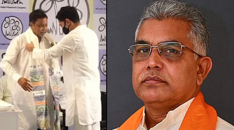 BJP state president Dilip Ghosh again slams Mukul Roy ।Sangbad Pratidin