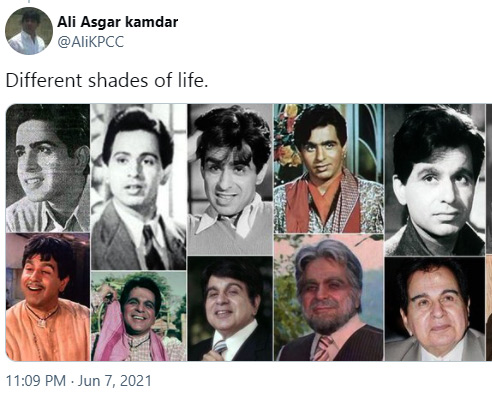 Here is how Dilip Kumar's Fan reacted After Saira Banu shared legendary actors hospital pic