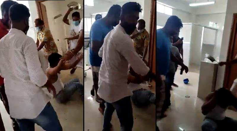 A doctor brutally attacked by the relatives of a Covid patient in Assam ।Sangbad Pratidin