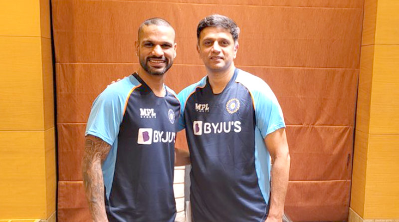 Back in India colours! Netizens react as Rahul Dravid attends press conference with Dhawan ahead of SL tour | Sangbad Pratidin