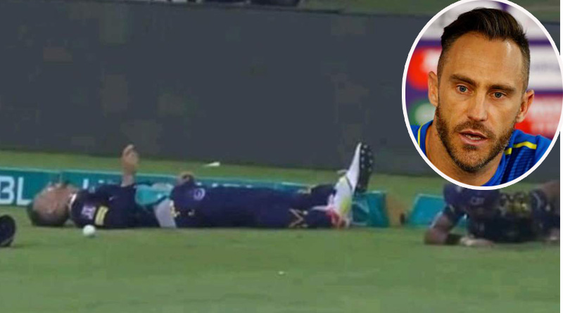 PSL: Faf du Plessis taken to hospital after horrific collison with Mohammad Hasnain | Sangbad Pratidin