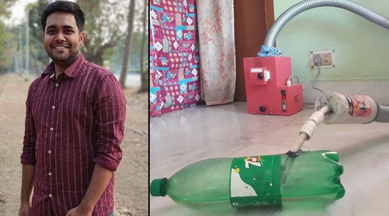 Kolkata youth makes environment friendly machine that burns used masks | Sangbad Pratidin