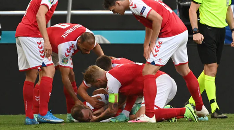 Euro Cup 2020: Denmark's Christian Eriksen collapses during match, match suspended | Sangbad Pratidin