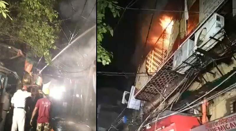 Massive Fire breaks out in a building in Kolkata | Sangbad Pratidin