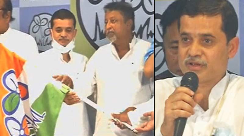 BJP leader of Alipurduar Gangaprasad Sharma joins TMC| Sangab Pratidin