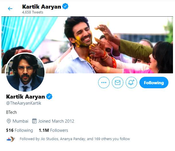 Kartik Aaryan changes his Social Media Bio