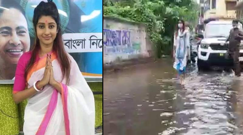 MLA lovely Moitra Visits Rain affected areas of sonarpur | Sangbad Pratidin