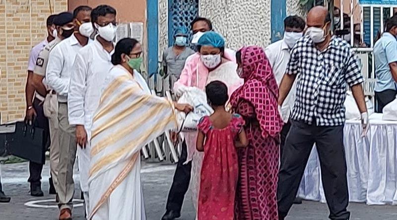 CM Mamata Banerjee distributed Cyclone Yaas relief material in alipore, kolkata | Sangbad Pratidin