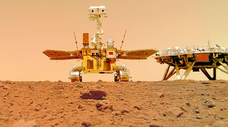 China's Zhurong Mars rover beams back first selfie from red planet | Sangbad Pratidin