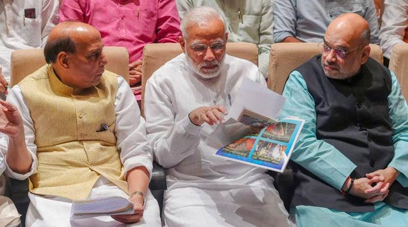 PM Modi meets Amit Shah, Rajnath Singh and other Union ministers | Sangbad Pratidin