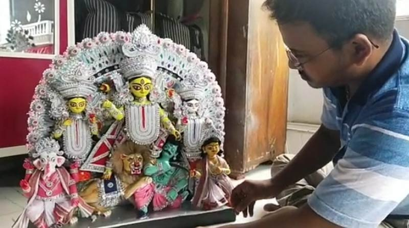 Durga idol made by youth in Nadia will reach Canada for the first time | Sangbad Pratidin