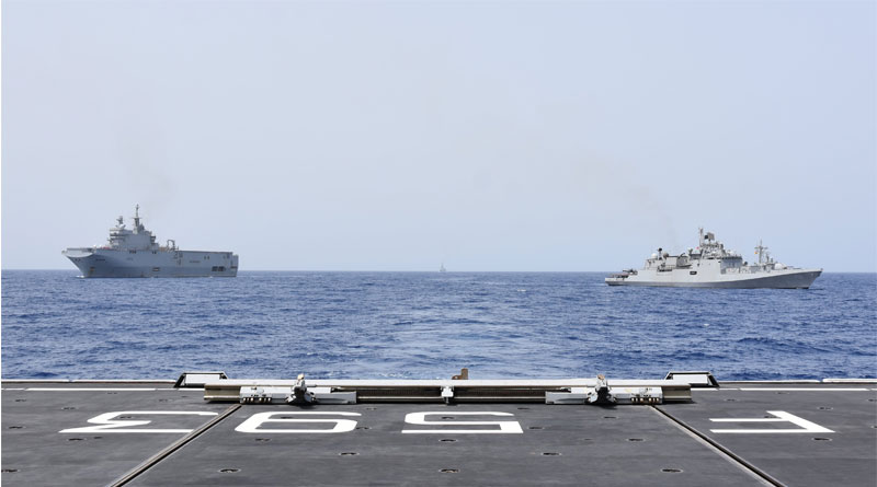 Indian Navy and European Naval Force hold first joint naval exercise | Sangbad Pratidin