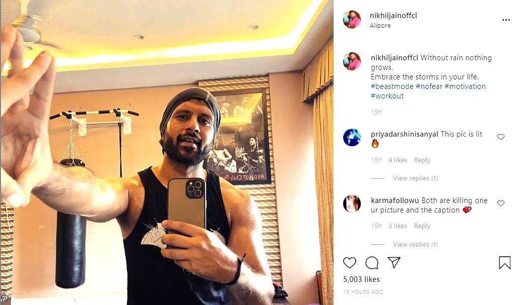 Instagram post of Nikhil Jain