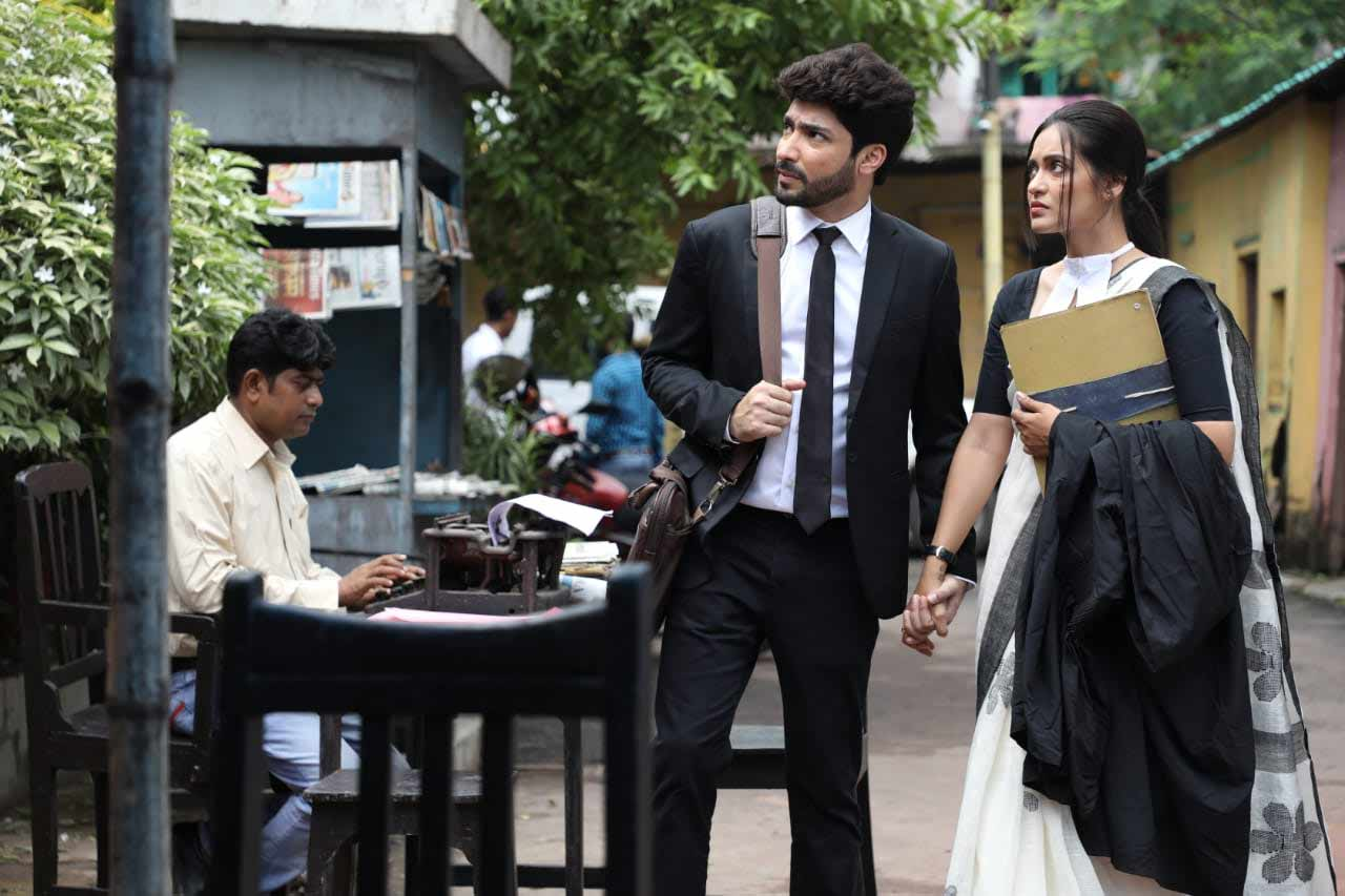 Priyanka Sarkar shares shooting picture of Bengali Film Nirbhaya with Gaurav Chakrabarty