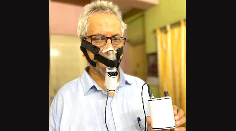 Kolkata scientist Dr Ramendra Lal Mukherjee invents special Pocket Ventilator for Covid-19 patients | Sangbad Pratdin