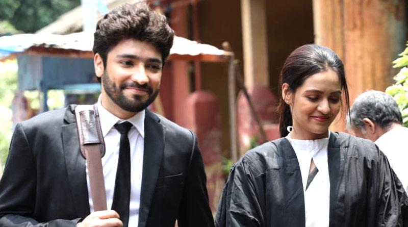 Priyanka Sarkar shares shooting picture of Bengali Film Nirbhaya with Gaurav Chakrabarty   Sangbad Pratidin
