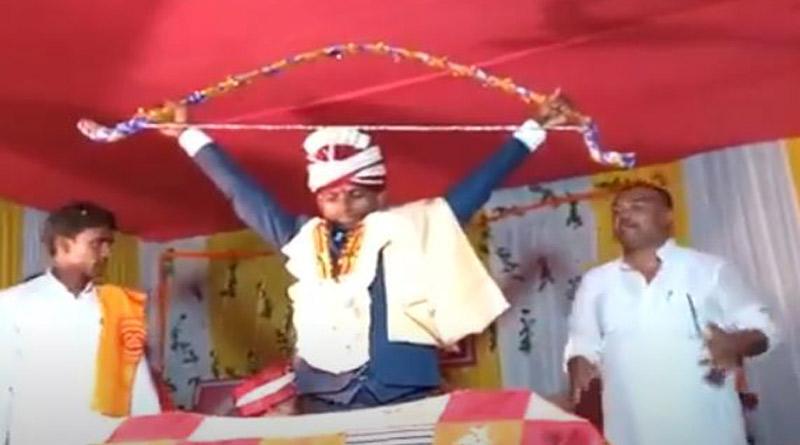 Bihar groom breaks dhanush before putting jailmala around brides neck   Sangbad Pratidin