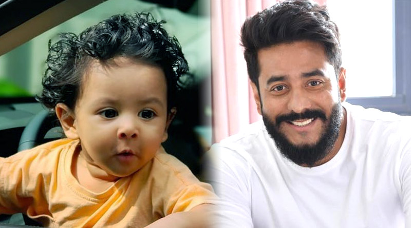 Here is what little Yuvaan did after getting control over Dad Raj Chakraborty's car steering | Sangbad Pratidin
