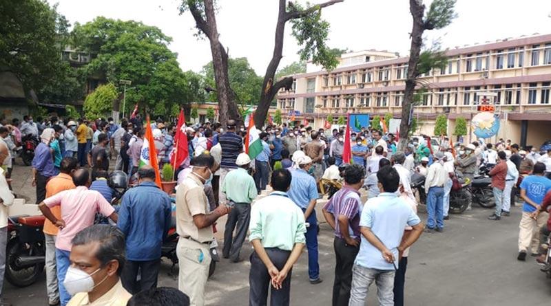 All labour union of SAIL come together over laborer rights । Sangbad Pratidin
