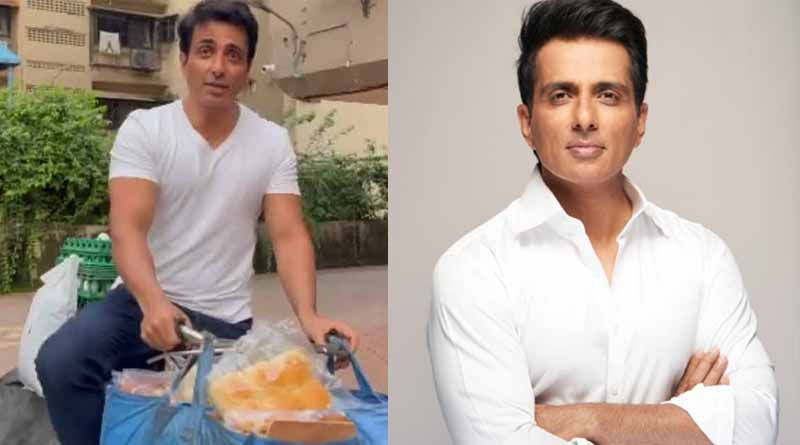 Bollywood Actor Sonu Sood sells eggs and bread on a bicycle | Sangbad Pratidin