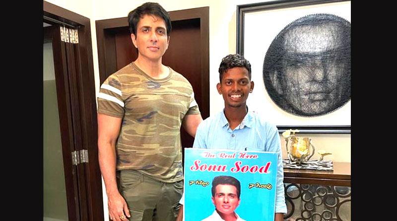 Man walked barefoot from Hyderabad to meet icon Sonu Sood | Sangbad Pratidin