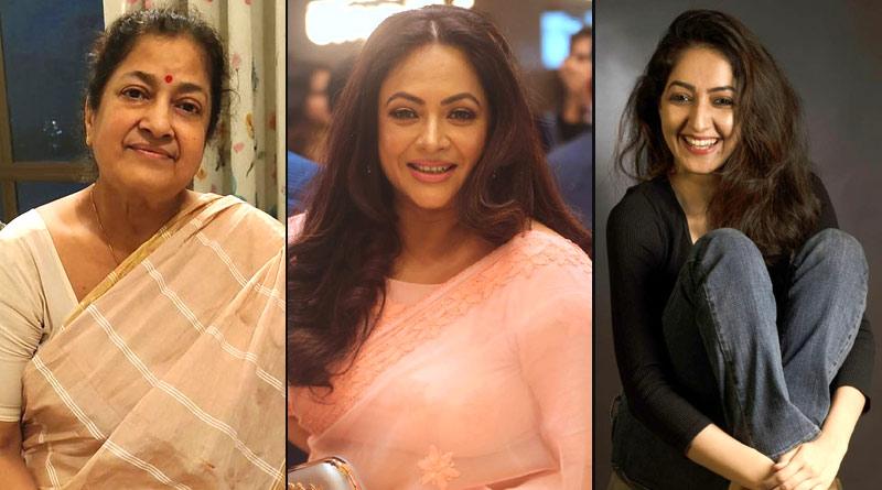 Sreelekha Mitra casted aunt Tapati Das and actress Amrita Amrita Chattopadhyay aa mother daughter | Sangbad Pratidin