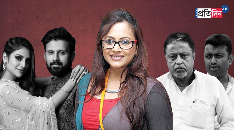 Actress Sreelekha Mitra compares Mukul and Subhrangsu Roy's 'Ghar Wapsi with Nusrat-Nikhil 'live in' issue | Sangbad Pratidin