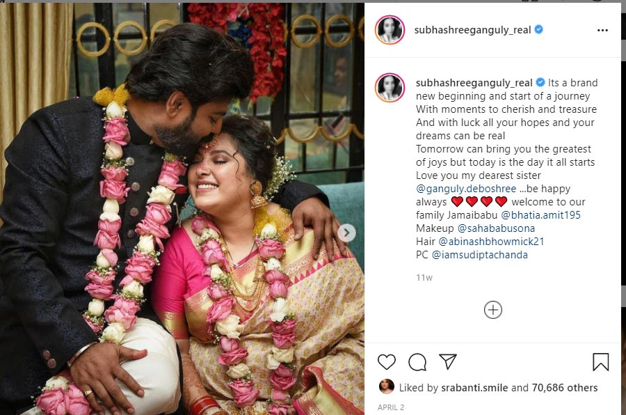 Subhashree Ganguly sister Deboshree Ganguly's husband arrested