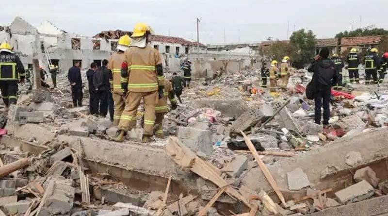 Gas Pipe Explosion Killed 12, Injured 138 In China । Sangbad Pratidin