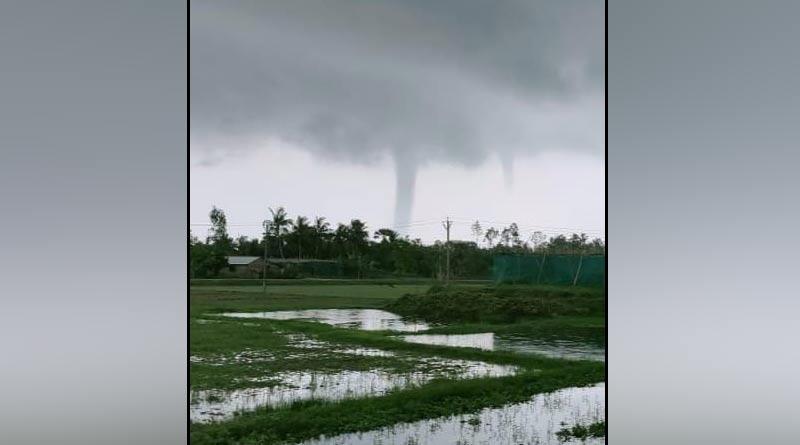 Tornado hits Sagar of South 24 Parganas | Sangbad Pratidin
